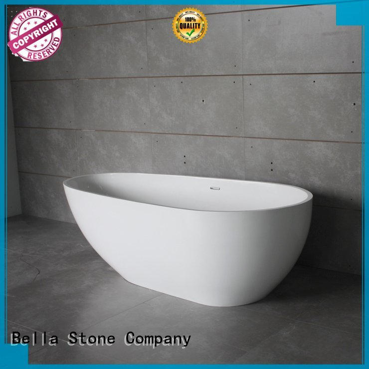 Bella 60 freestanding bathtub solid acrylic resin