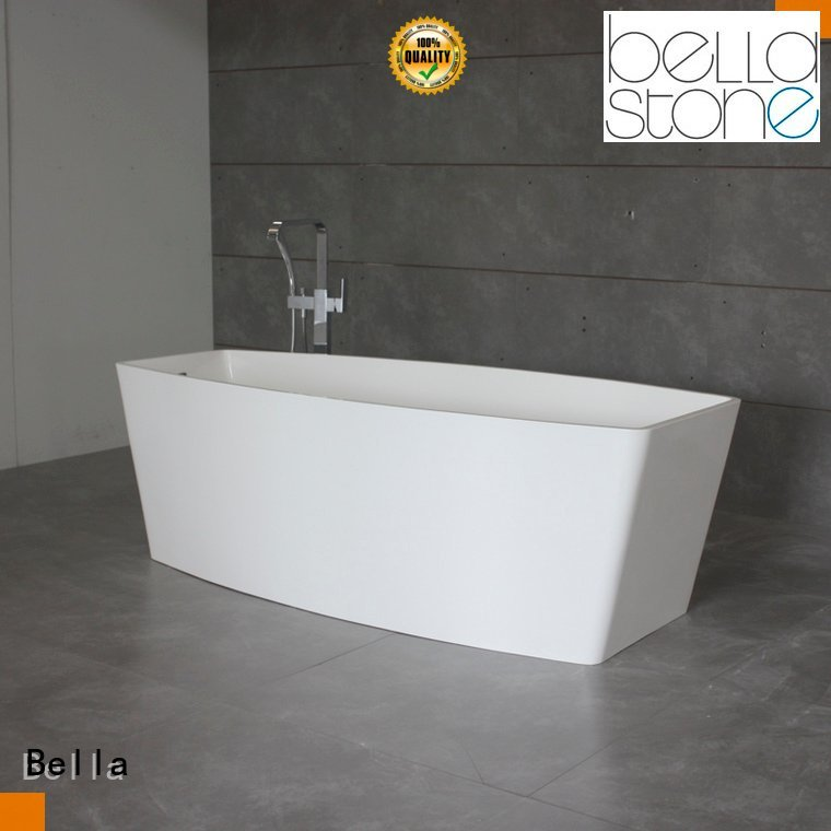 Bella 60 freestanding bathtub solid surface lightweight pure