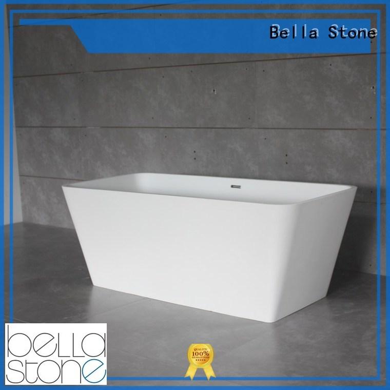 pure modified artificialstone deep freestanding tub Bella Brand company