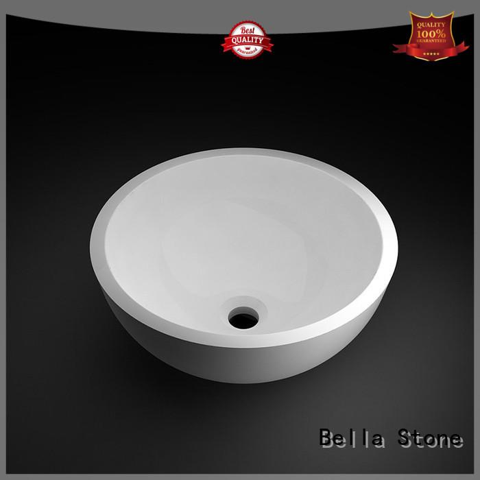 Matte wash basin price Solid Surface Slate Bella Brand