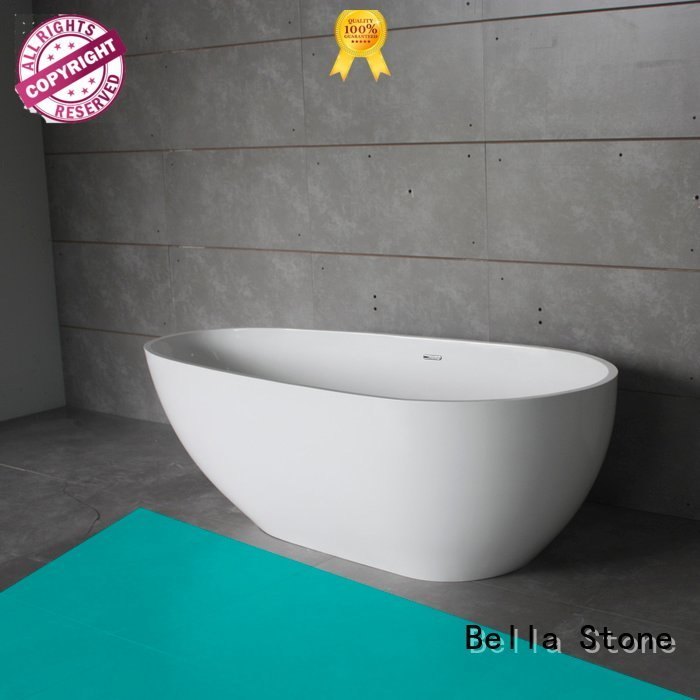 solid designer surface Bella 60 freestanding bathtub