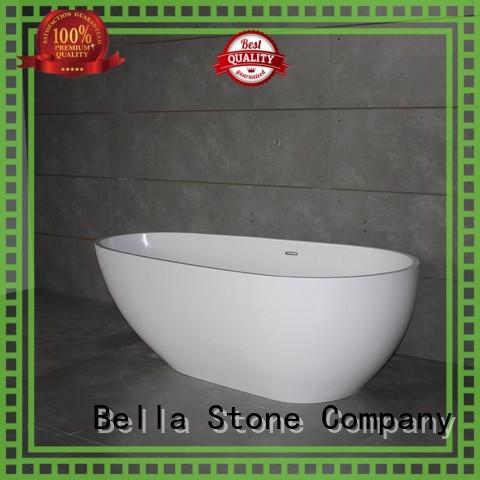 60 freestanding bathtub lightweight modified resin Bella Brand