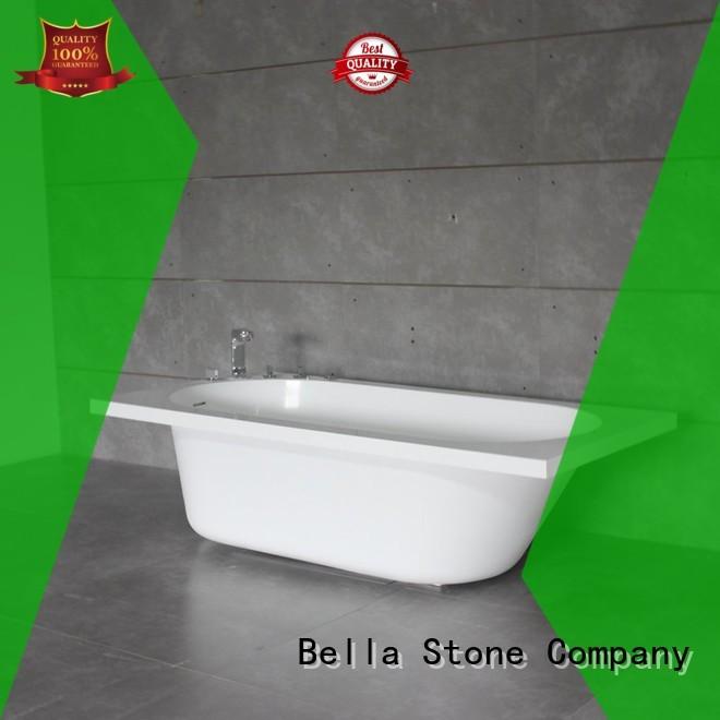 60 freestanding bathtub capital artificialstone lightweight Bella Brand company