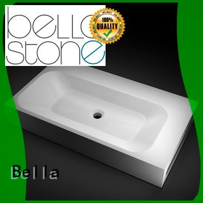 Custom above counter basins Solid Surface counter Gloss Bella