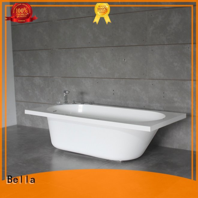 pure lightweight modified deep freestanding tub Bella
