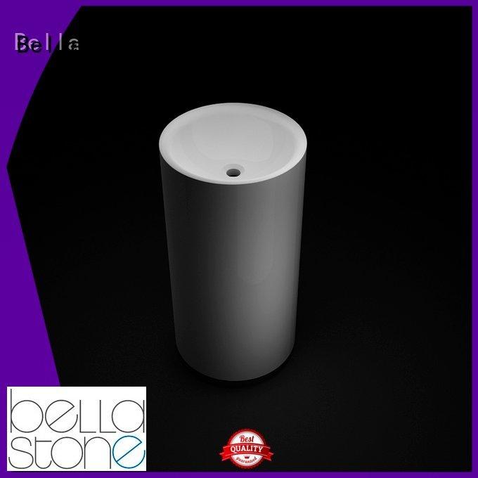 Solid Surface Quartz Calcutta Bella pedestal wash basin