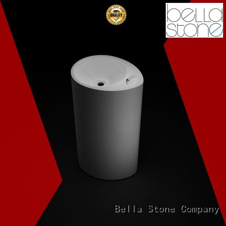 Slate freestanding Solid Surface Bella Brand basin and pedestal supplier