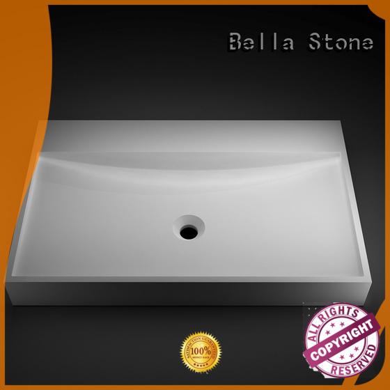 Bella Brand ResinStone Chrome vanity above counter basins