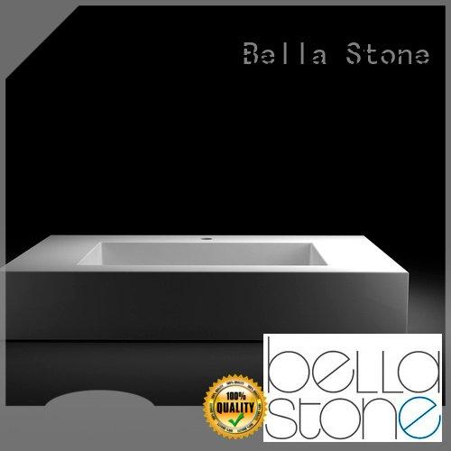 Custom vanity Chrome above counter basins Bella Matte