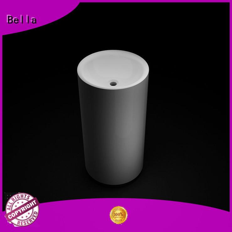 Quartz Matte pedestal wash basin Bella manufacture