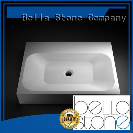 countertop above counter basins Slate Bella company