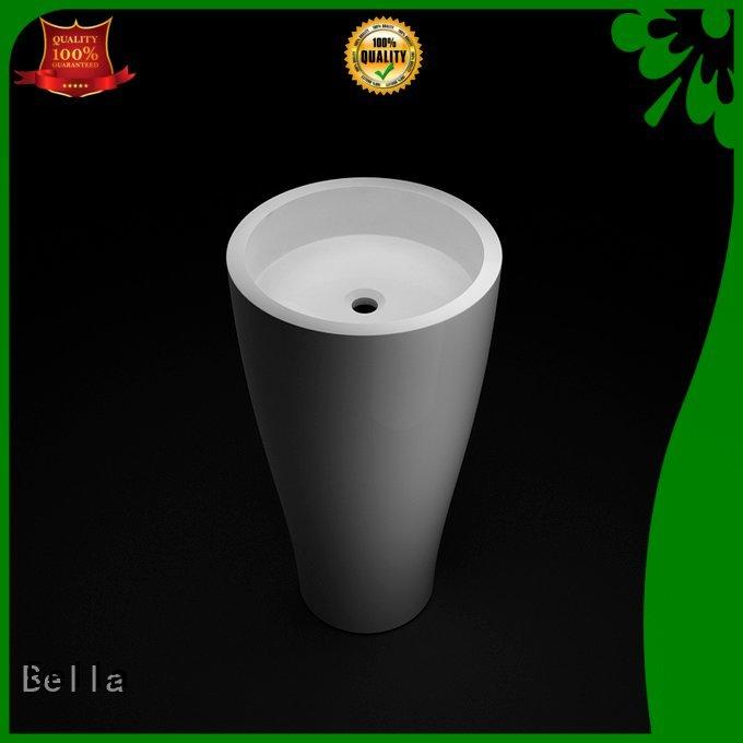 Bella Brand Solid Surface pedestal pedestal wash basin Quartz Slate