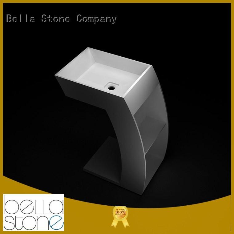 pedestal basin sink Slate SolidSurface Quartz Bella Brand company