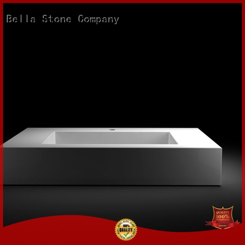 counter Quartz OEM above counter basins Bella