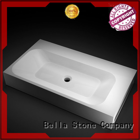 Matte vanity Gloss SolidSurface above counter basins Bella
