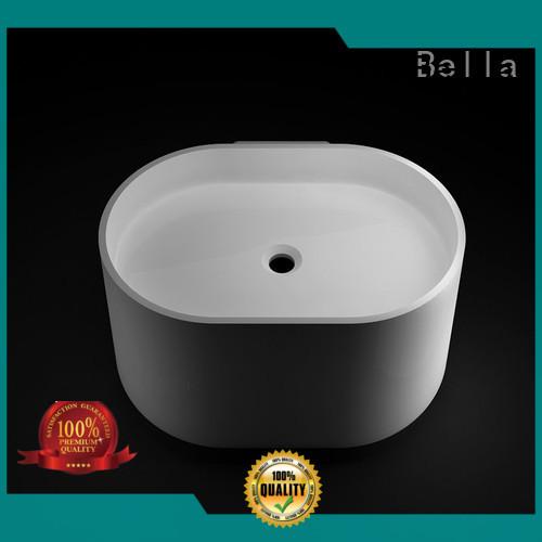 Calcutta Chrome Onyx SolidSurface above counter basins Bella