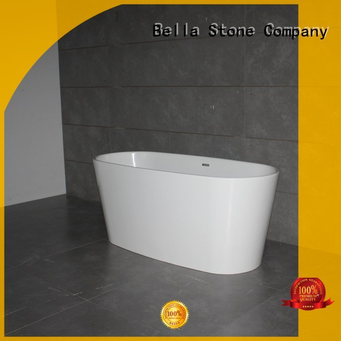60 freestanding bathtub resin Bella Brand deep freestanding tub