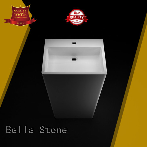 Bella Brand Gloss freestanding pedestal basin sink Quartz supplier