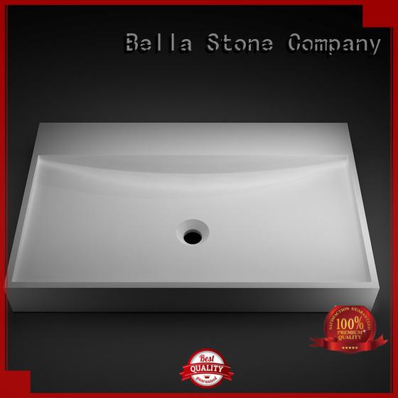 Bella Brand countertop above counter basins above factory