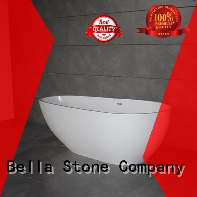 Bella surface artificialstone deep freestanding tub pure acrylic