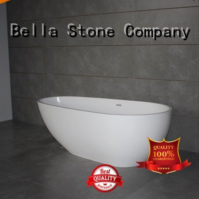Bella 60 freestanding bathtub solidsurface pure surface capital