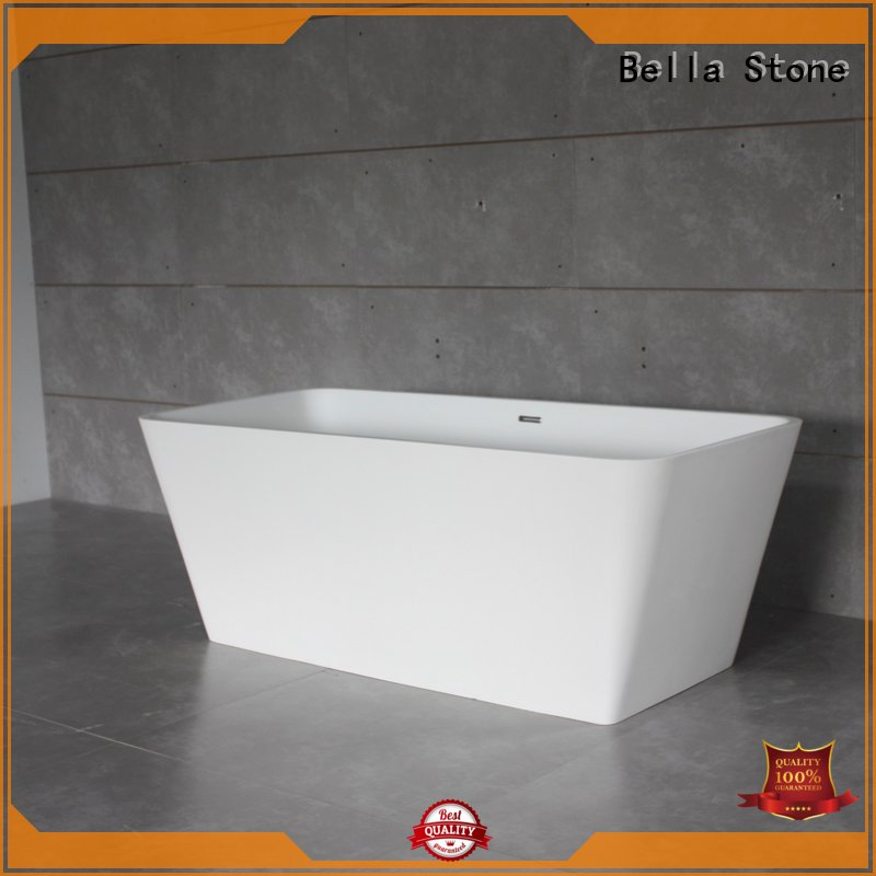 designer solidsurface artificialstone resin Bella Brand deep freestanding tub supplier