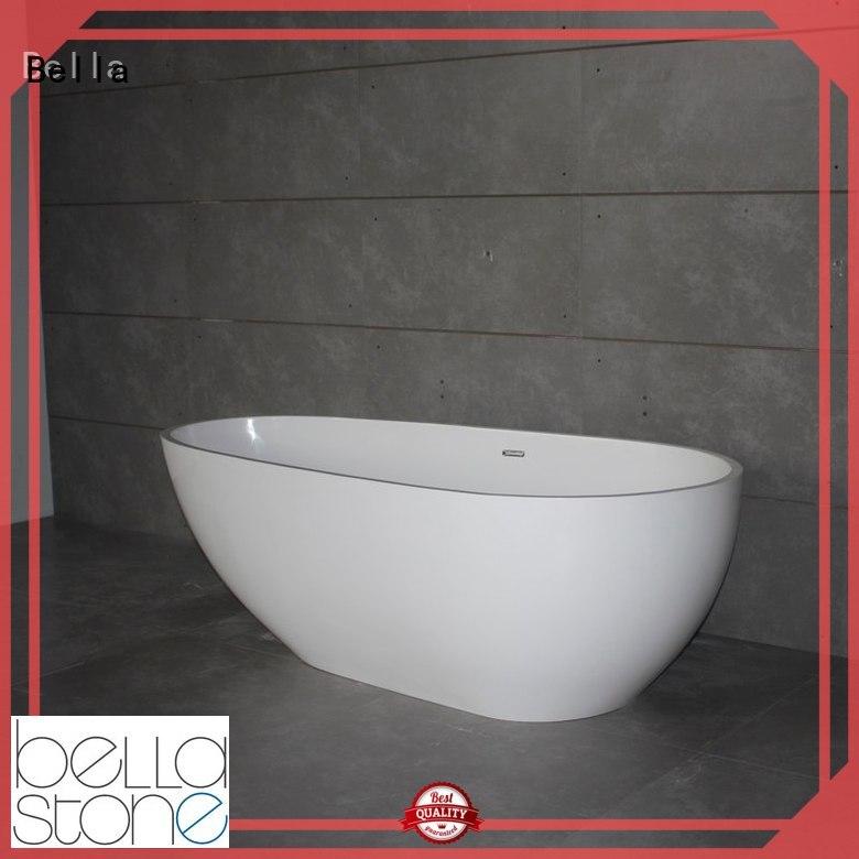 solidsurface Custom freestanding resin deep freestanding tub Bella designer