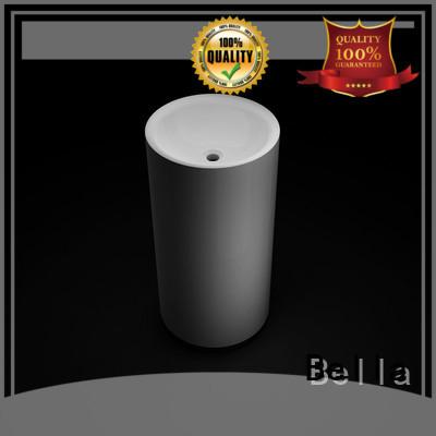 Chrome pedestal basin sink Matte Onyx Bella Brand