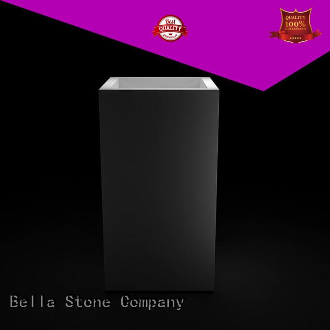 Bella Brand SolidSurface pedestal Matte custom pedestal basin sink