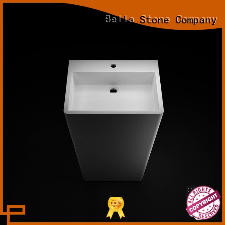 pedestal wash basin Matte basin and pedestal Bella
