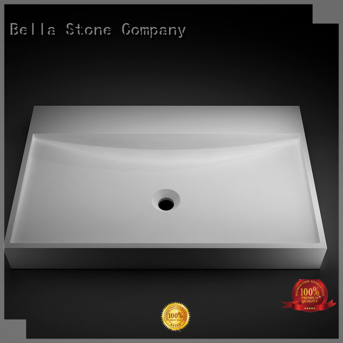 Slate above counter basins vanity Solid Surface Bella company