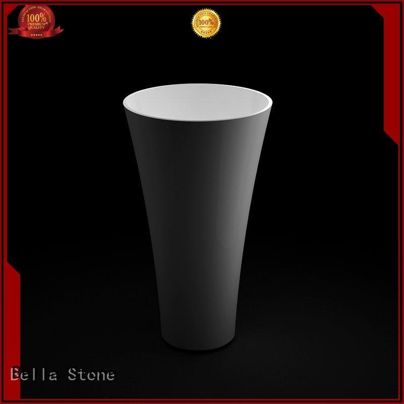 pedestal Quartz Bella Brand pedestal basin sink