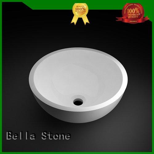 Custom Calcutta above counter basins countertop Bella