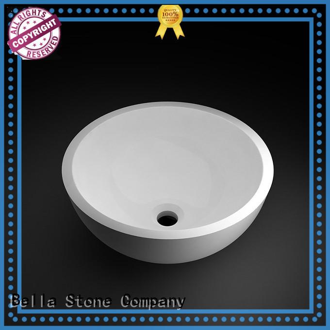 Bella Brand ResinStone above Onyx above counter basins