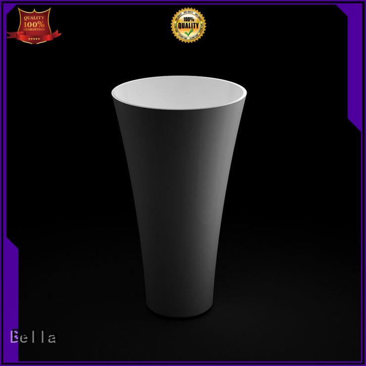 Bella Brand ResinStone Calcutta pedestal basin manufacture
