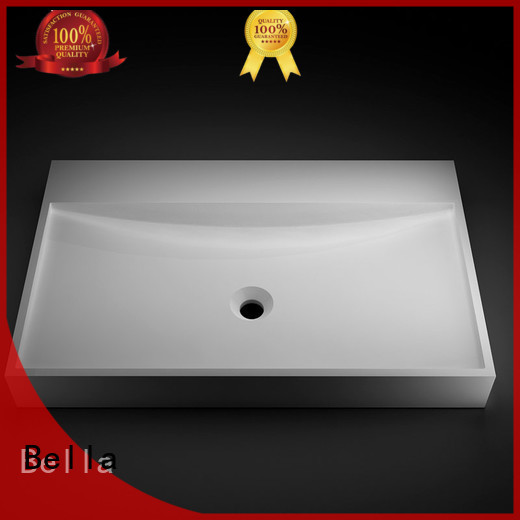countertop Solid Surface above counter basins Chrome Bella company