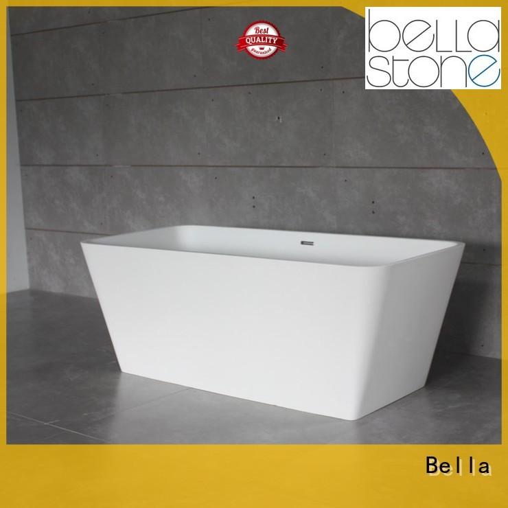 60 freestanding bathtub resin deep freestanding tub Bella Brand