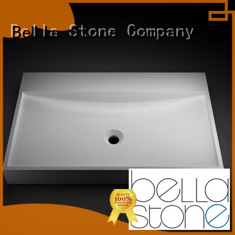 Slate SolidSurface above counter basins Chrome Bella Brand company