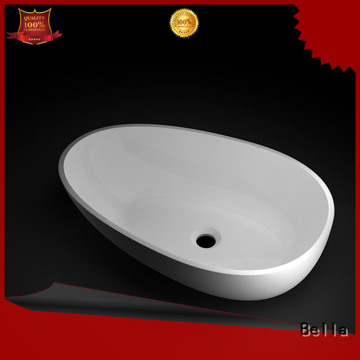 Solid Surface ResinStone Chrome above counter basins Bella Brand