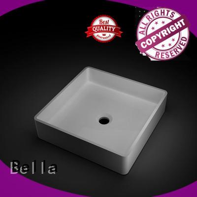 Quality Bella Brand wash basin price Gloss ResinStone