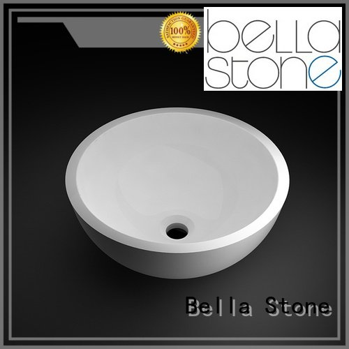 Onyx Solid Surface above counter basins ResinStone Bella Brand company
