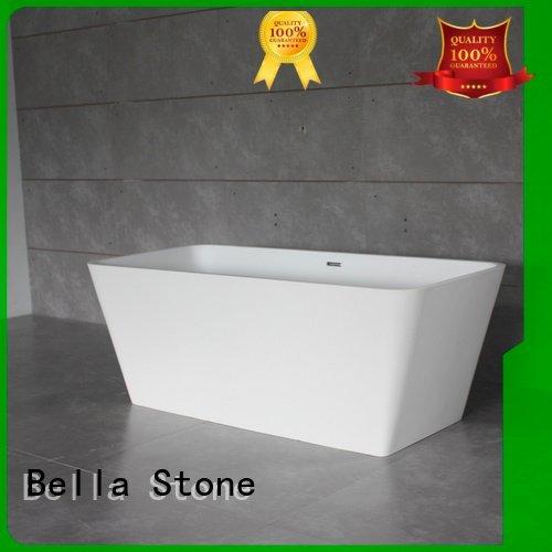 solidsurface deep freestanding tub lightweight Bella