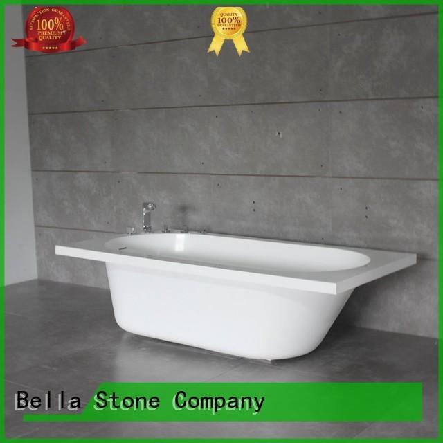 lightweight 60 freestanding bathtub acrylic artificialstone Bella Brand