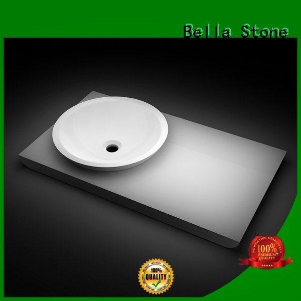 Bella Brand Gloss Solid Surface Slate above counter basins