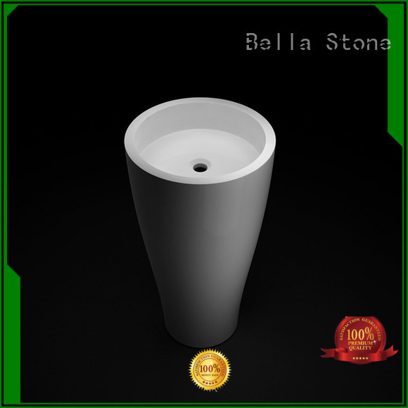 Quality Bella Brand pedestal basin sink SolidSurface