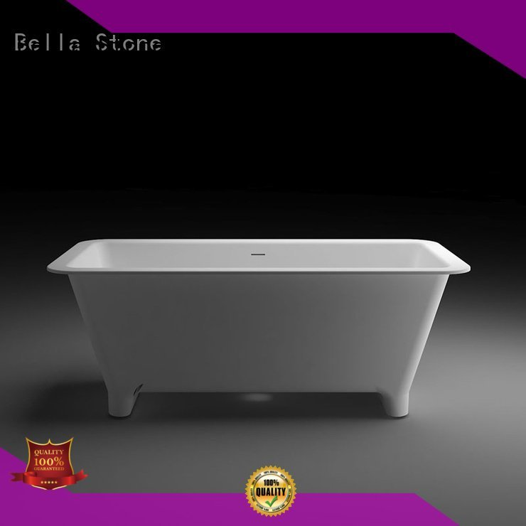 resin solidsurface deep freestanding tub Bella