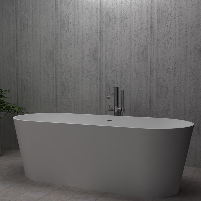 Bella Artificial Stone Bath BS-S07 1695 Free-standing Bathtubs image5