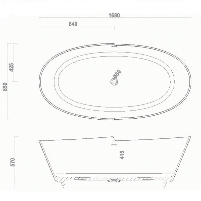 Modified Acrylic Tub BS-S32 1680