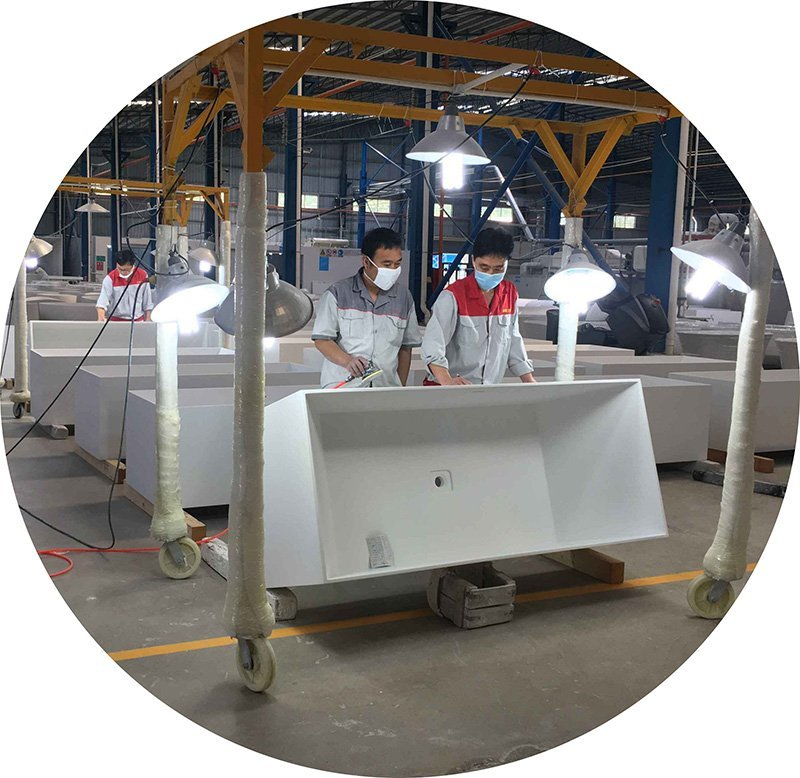 lightweight freestanding deep freestanding tub modified resin Bella company
