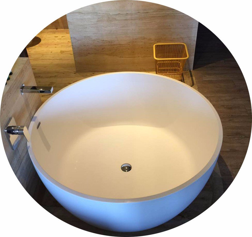 pure designer 60 freestanding bathtub lightweight resin Bella Brand